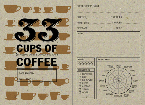 33 Cups of Coffee: Coffee Journal