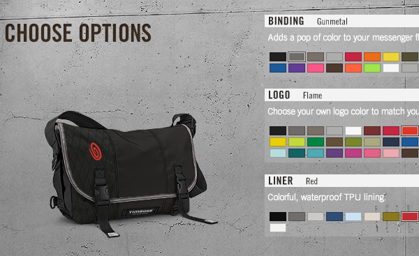 Build Your Own Timbuk2 Bag