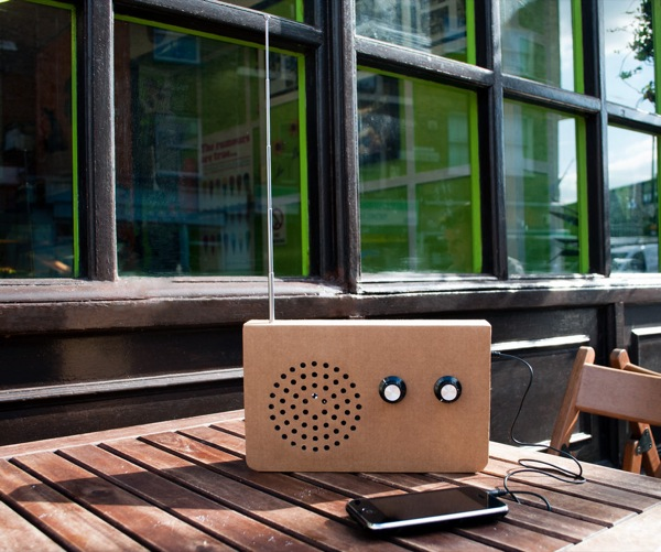 Cardboard FM Radio and MP3 Player