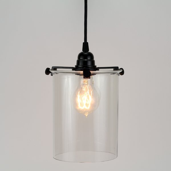 Glass Cylinder Pendant Lamp