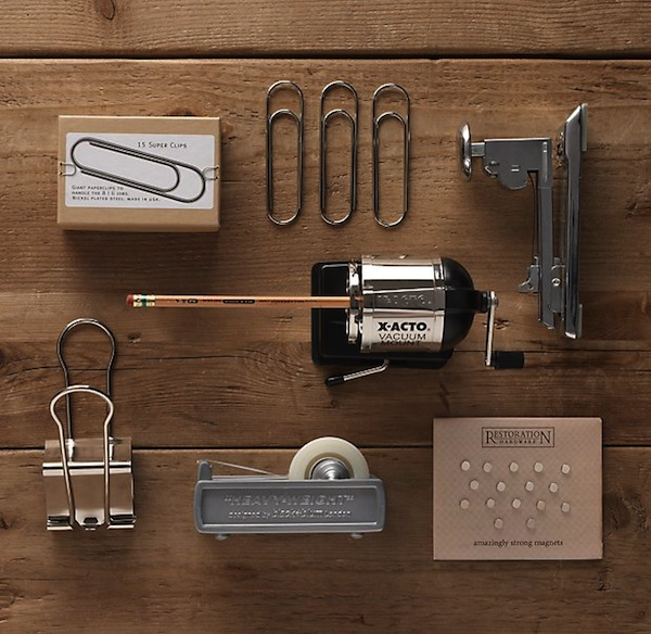Restoration Hardware's Industrial Desk Accessories