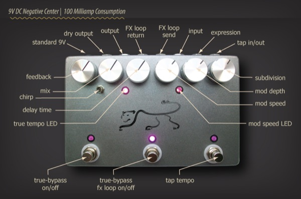 The JHS Panther, Analog Delay Pedal