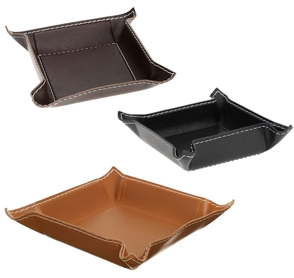 Small Square Leather Trays