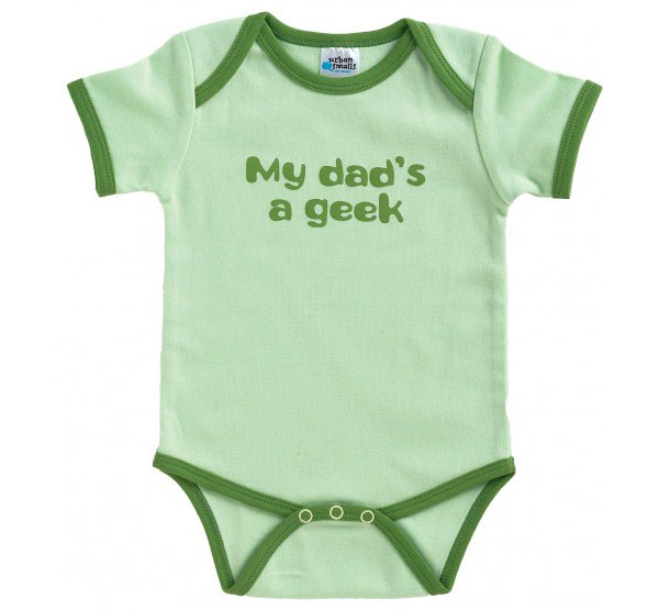 """My Dad's A Geek"" Short Sleeve Onesie"