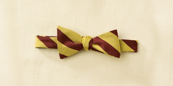 Ralph Lauren Rugby Striped Bow Tie