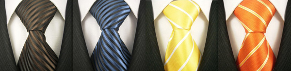 Scott Allan 4 Pack of 100% Woven Striped Ties